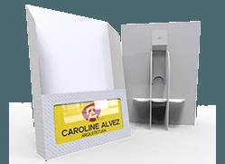 porta-cartão/folhetos